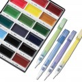 Gansai Tambi Watercolor 18 Color Paint and 4 Brush Set