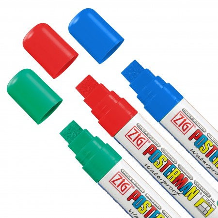 WO/WO 3 Color Zig Posterman Marker Set for White Backgrounds